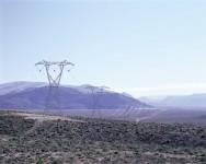 VSC-HGÜ-Trasse in der Wüste von Namibia